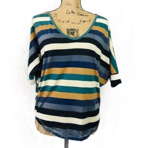 DNA couture Striped Top  Size L
